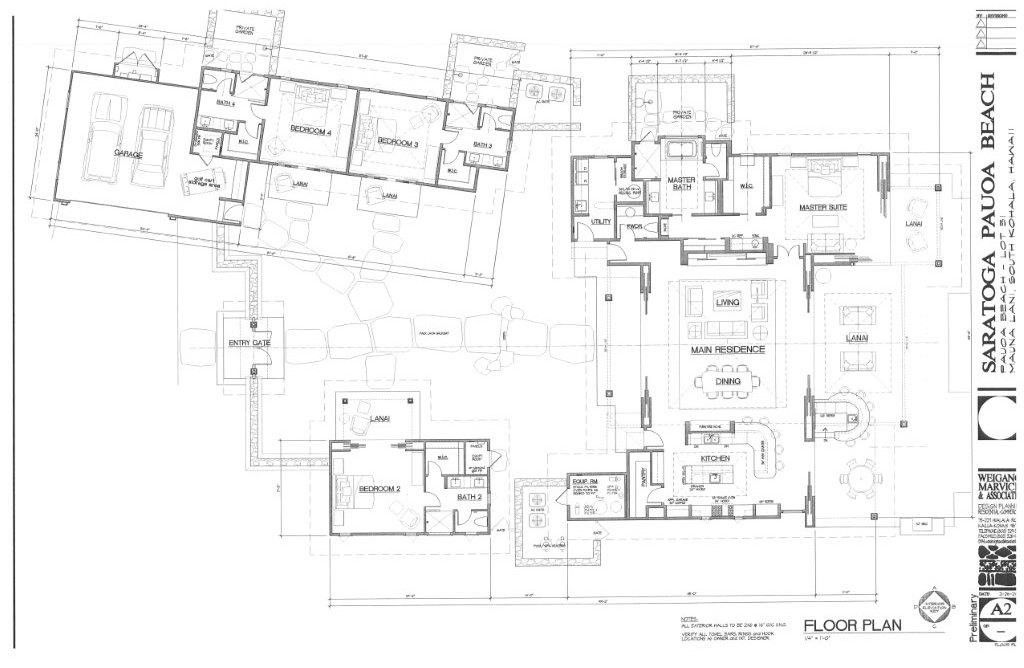Kukio Floor Plans Floor Plans Resort Design Plan Villa Plan