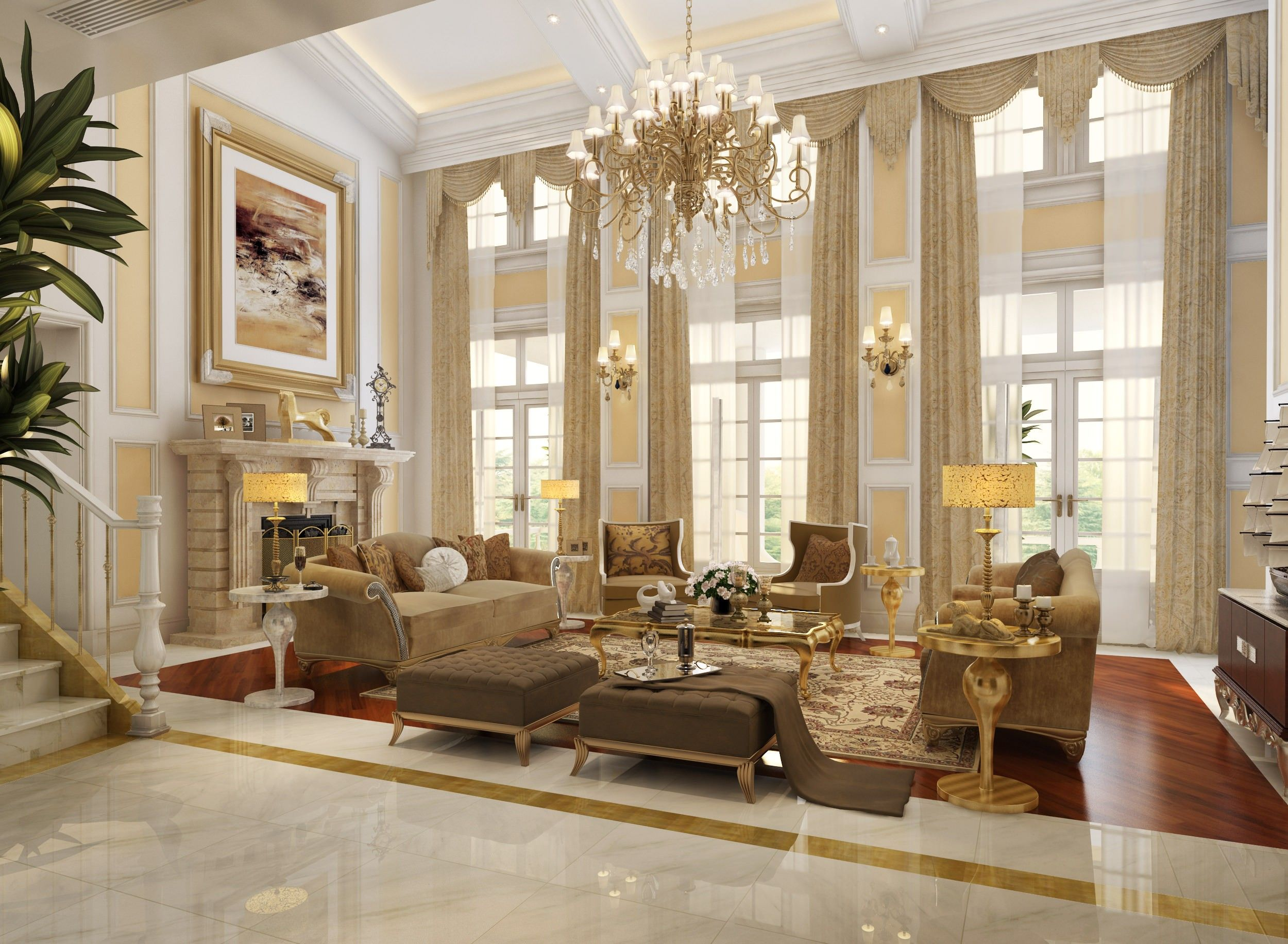 Living Room Ideas Luxury living room : marvellous luxury living rooms design with round