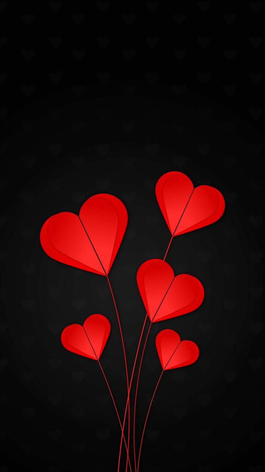 Hearts Red Black Background Heart Wallpaper Black Backgrounds Black Background Wallpaper