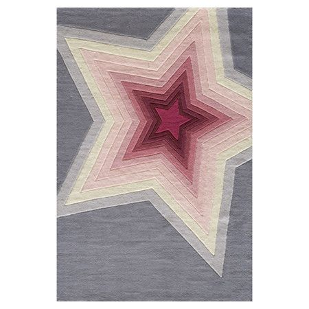 So cute in a monotone bedroom or playroom, where your kids are a star! Hipster Rug   Wayfair