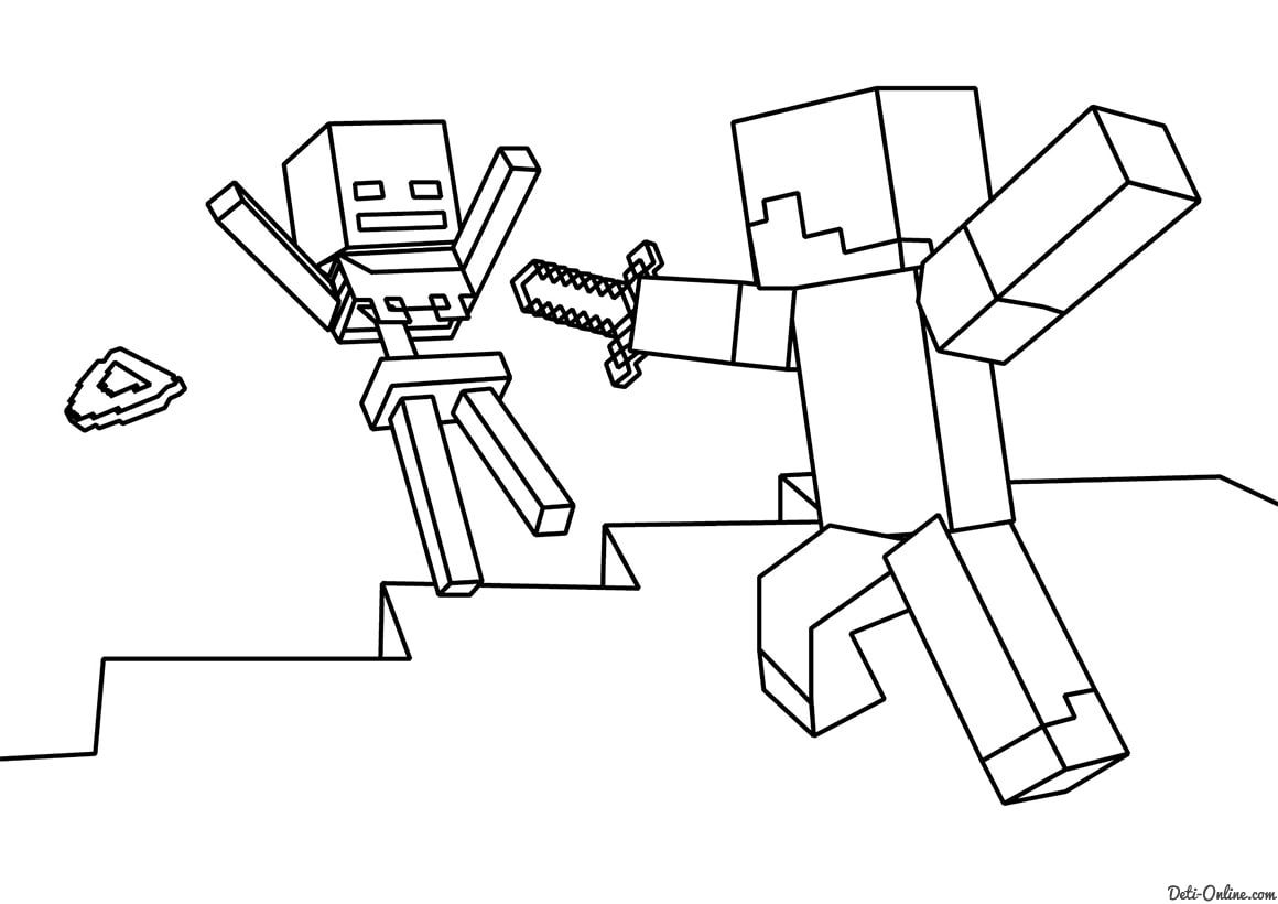 Coloring Page Minecraft Coloring Pages Print Them For Free Minecraft Coloring Pages Monster Coloring Pages Lego Coloring Pages [ 820 x 1160 Pixel ]