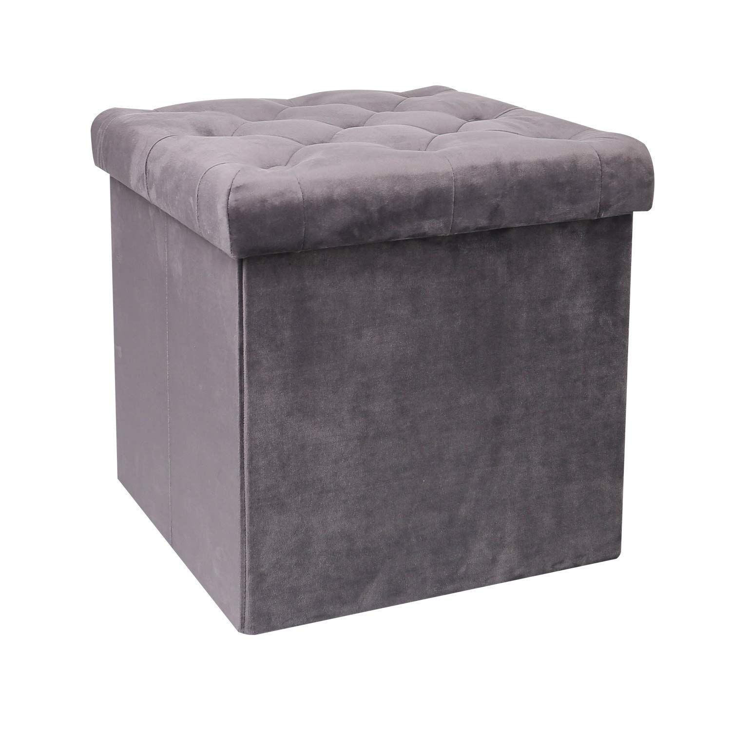 Amazon Com B Fsobeiialeo Storage Ottoman Velvet Tufted Folding