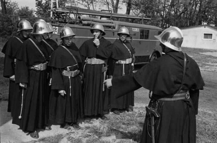 1970's Polish fire fighter monks.