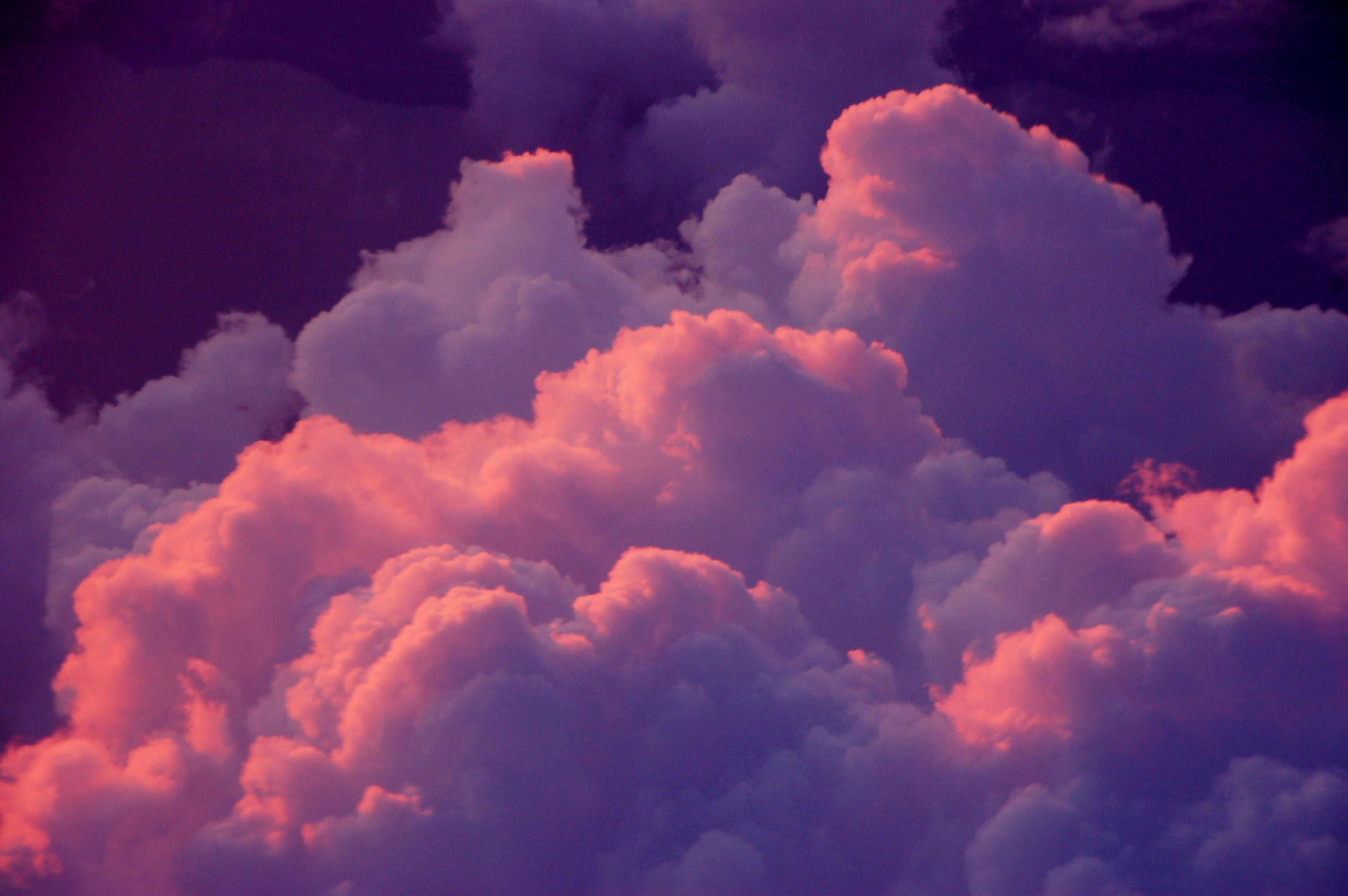 Pink Purple Clouds Pink Clouds Wallpaper Sky Aesthetic Aesthetic Wallpapers