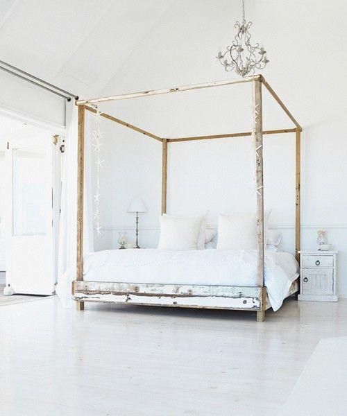 Bed Schlafzimmer Inspirationen Holz Himmelbett Bett Ideen