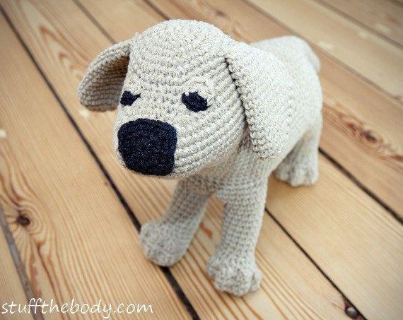 Amigurumi Dog Toy Patterns : Labrador Puppy Amigurumi Pattern, Dog Crochet Pattern ...