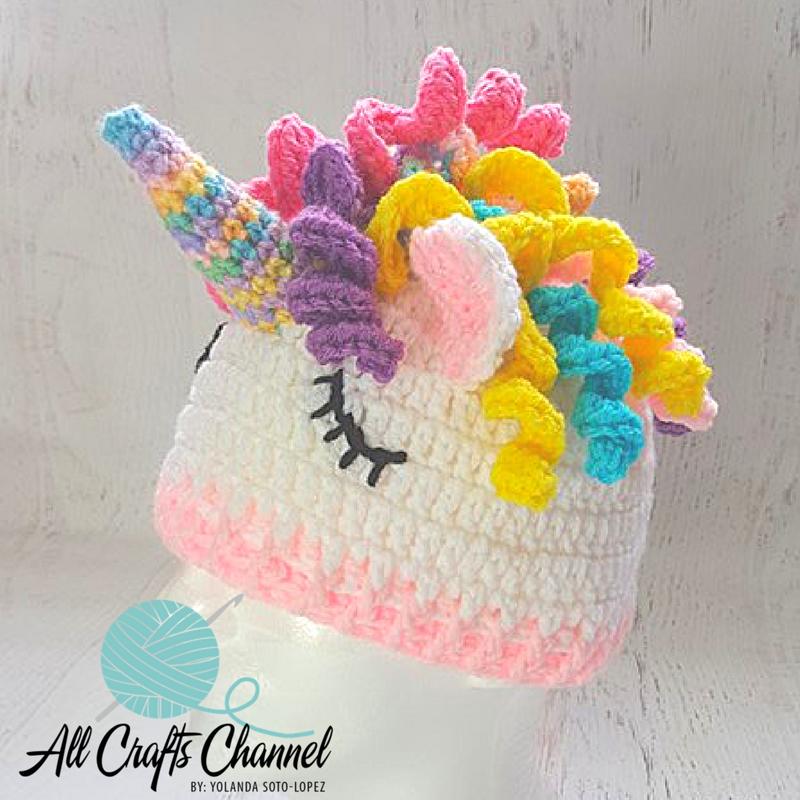 66f1bb2b03770 Easy Crochet Unicorn Beanie   Hat