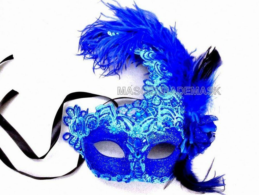 Fancy Dress Ostrich Peacock Masquerade Ball Mask Halloween Costume Party Fun
