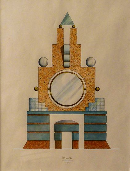 Sworders - Fine Art Auctioneers - *Michael Graves (b.1934) A design for 'MEMPHIS DRESSING TABLE' Inscribed and dated 1981 in pencil l.c., pe...