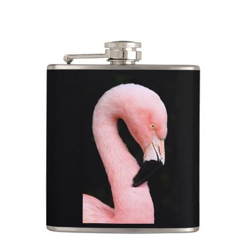 Lovely Flamingo - Vinyl Wrapped Flask