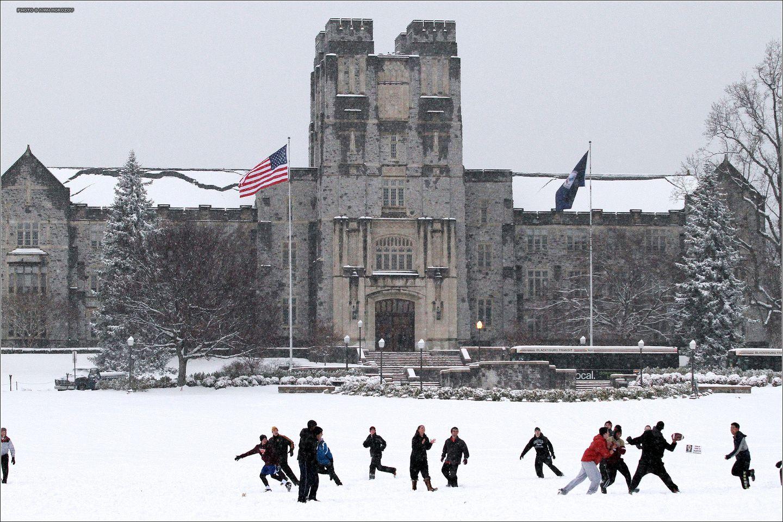 April Snow. 2013.04.04. Spring. Virginia Tech. Campus