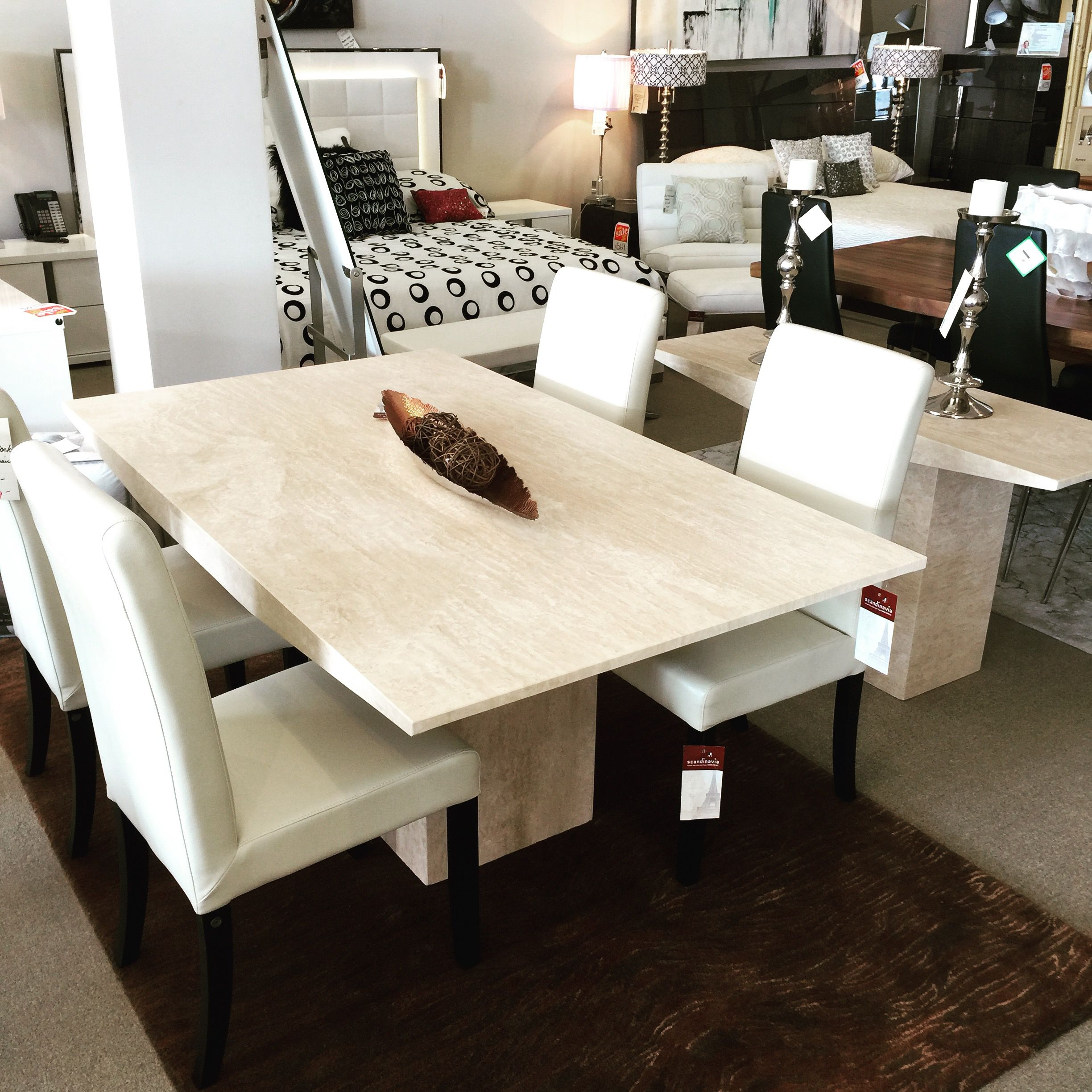 32 Stylish Dining Room Ideas To Impress Your Dinner Guests: Monaco Marble Dining Table Scandinavia Inc Metairie New