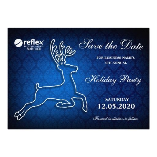 Company Holiday Party Invitation Save The Date  Christmas And