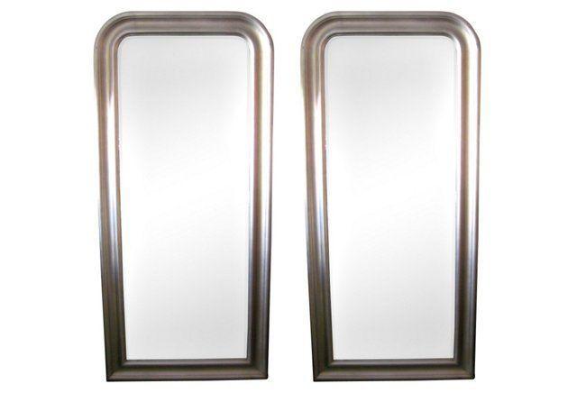 Large Rectangular Mirrors, Pair