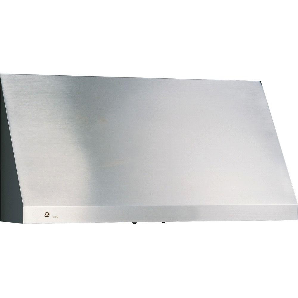Ge Profile 36 In Designer Range Hood In Stainless Steel Jv966dss The Home Depot Stainless Range Hood Range Hood Wall Mount Range Hood