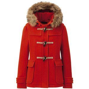 UNIQLO Women Wool Blended Short Duffle Coat - Polyvore | Heidi ...