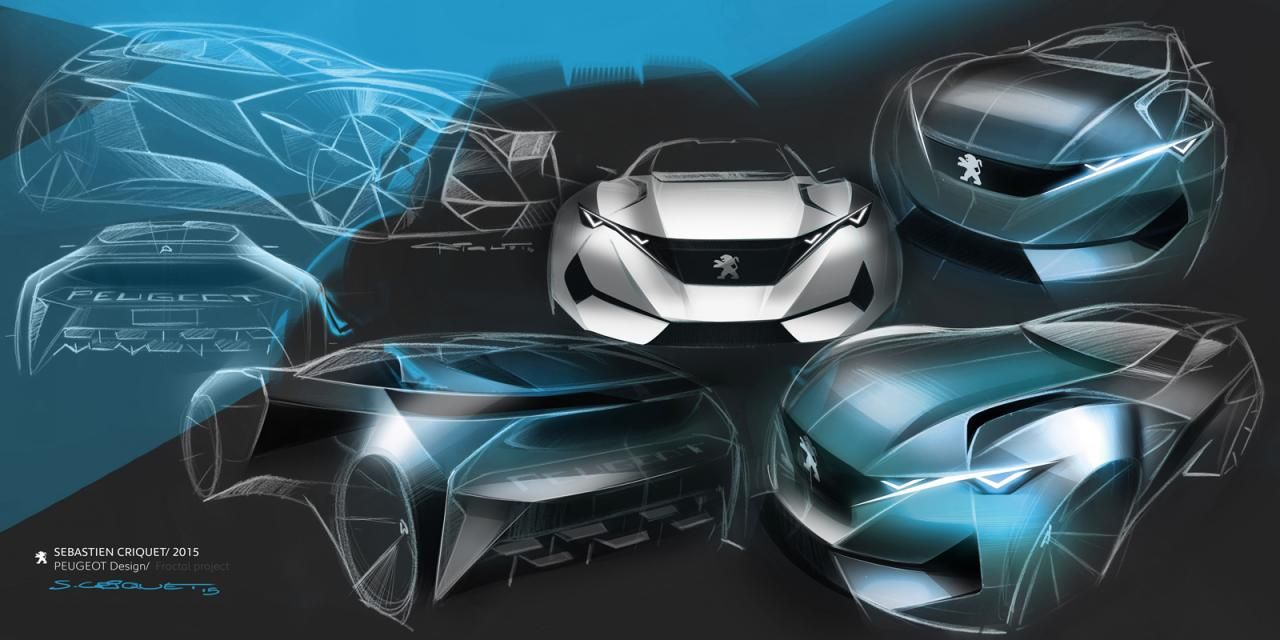 Peugeot Fractal Concept Sportscar breaks cover