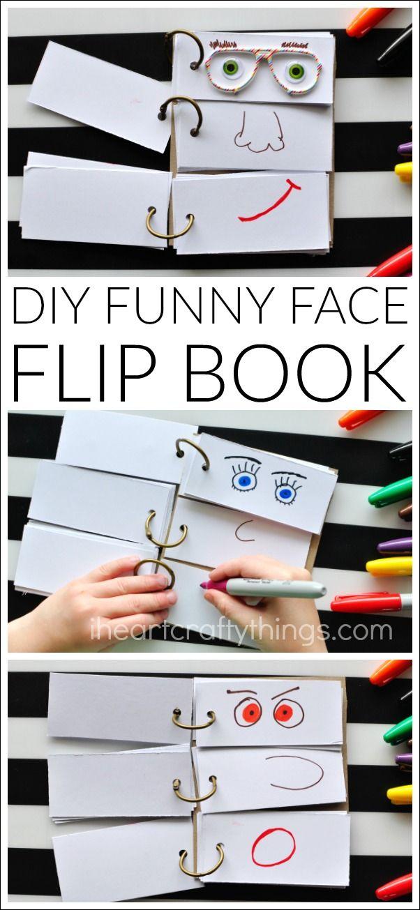 Diy funny face flip book flip books kid activities and flipping diy funny face flip book i heart crafty things solutioingenieria Choice Image