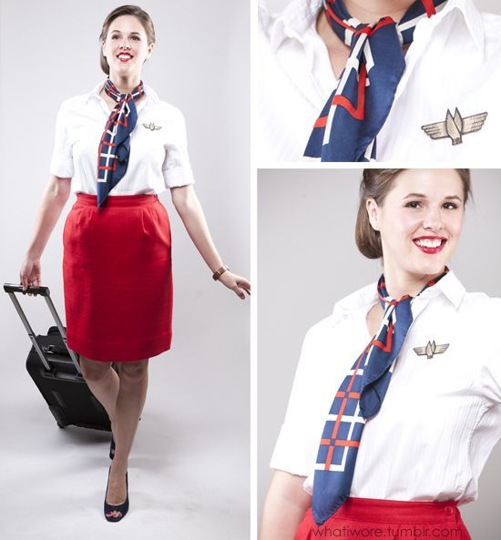Flight attendant costume- 15 Modest and Fun DIY Halloween Cost  sc 1 st  Pinterest & 15 Modest and Fun DIY Halloween Costumes! | Fall in love with Fall ...
