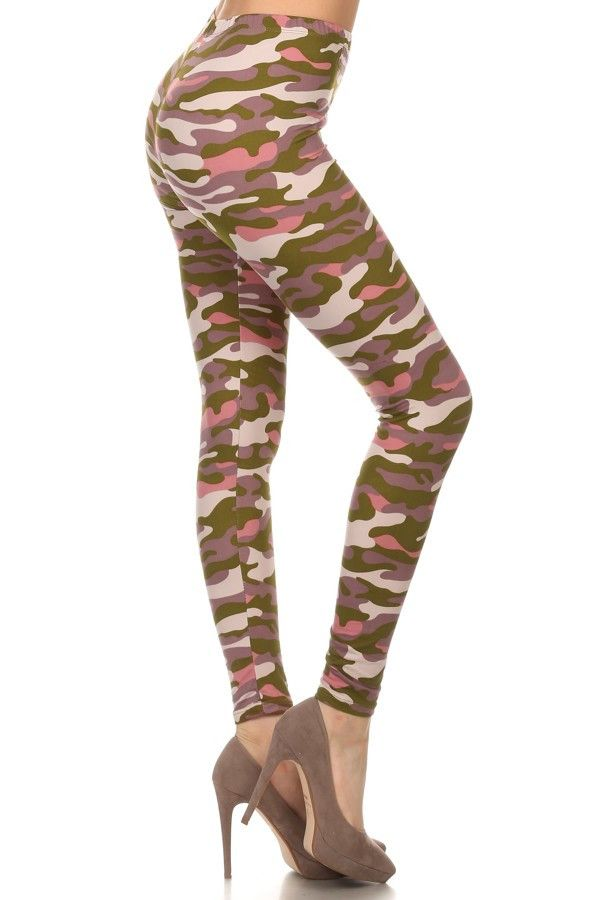 Pink & Olive Camo Leggings www.legsmart.ca