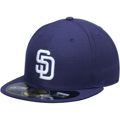 timeless design b9fab 10b50 San Diego Padres New Era AC On-Field 59FIFTY Home Performance Fitted Hat -  Navy