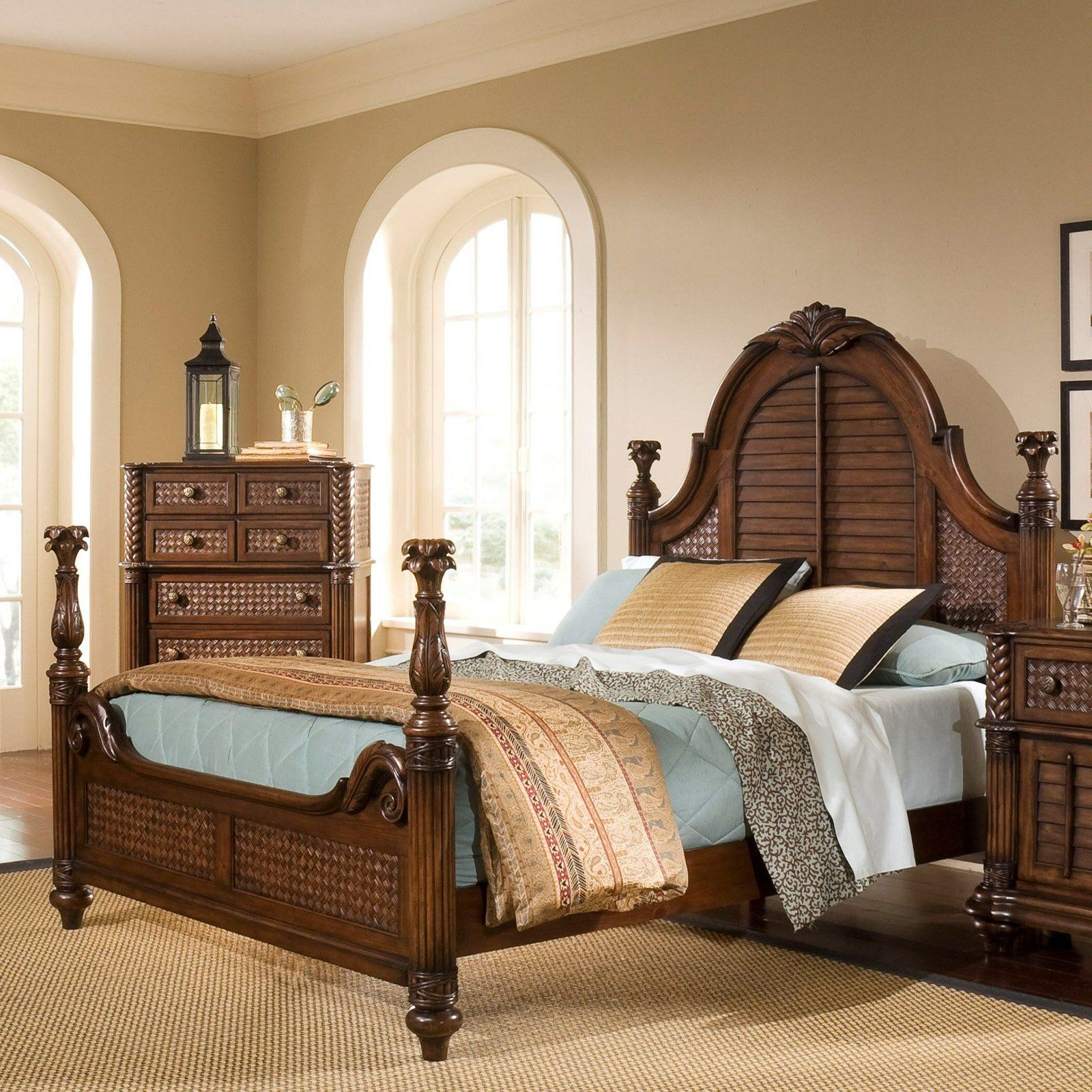 Progressive Furniture Palm Court Ii Poster Bed Cocoa Brown 1329 97