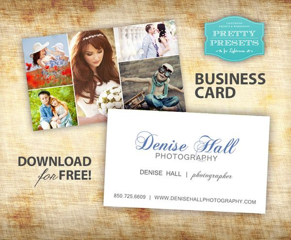 Free business cards for photographers free business cards pretty free business card for photographers pretty presets for lightroom cheaphphosting Images
