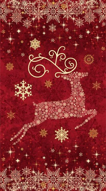 Reindeer Prance by Northcott Fabric, Fabric Panel