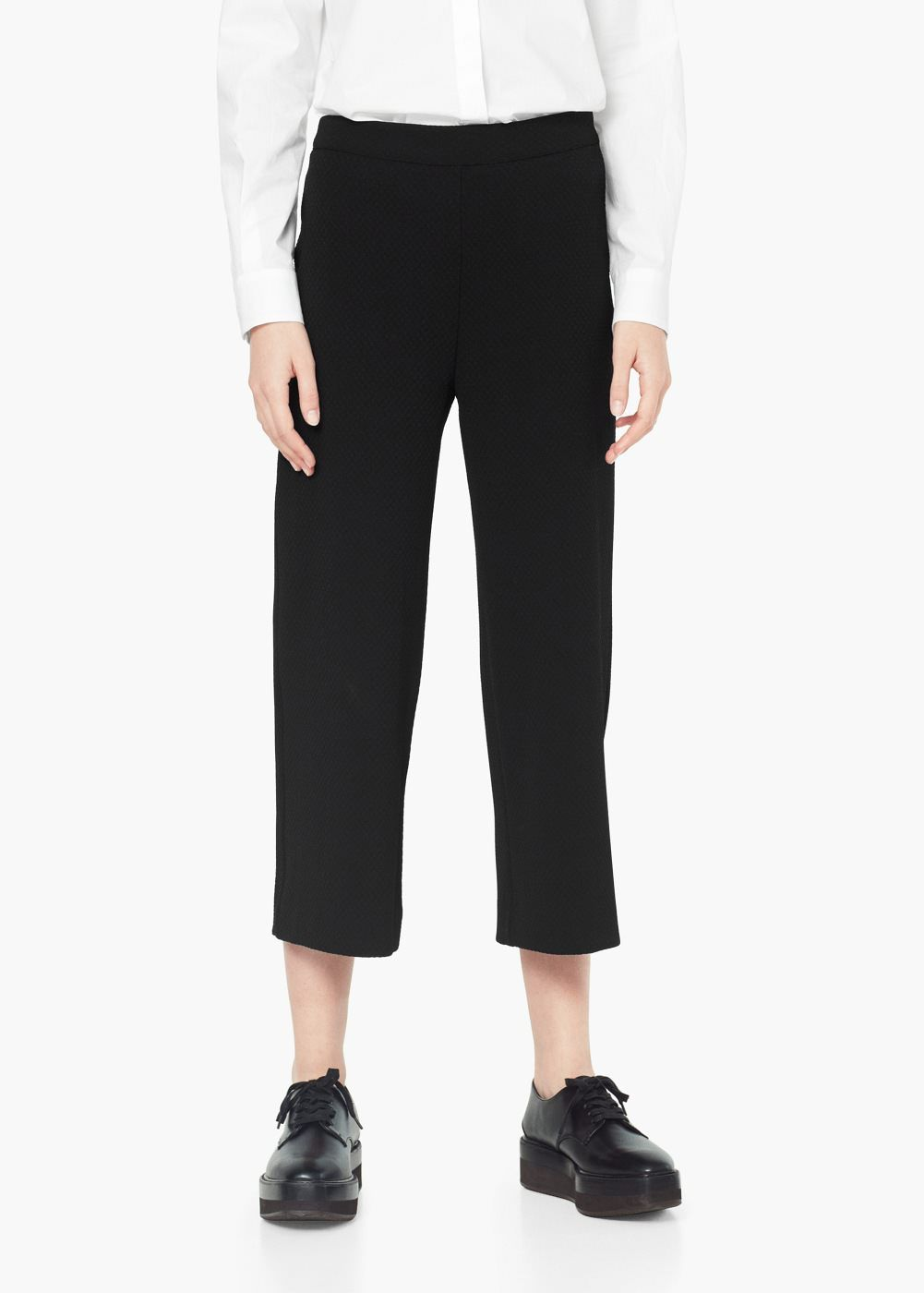 942efa99e3 Textured trousers - Women | her | Cropped trousers, Pants for women ...