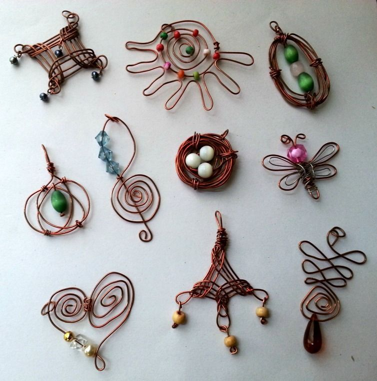 DIY Easy Wire Pendants | Wire pendant, Tutorials and Wire wrapping