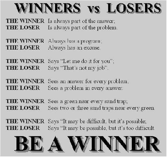 Winners Vs Losers Winner Quotes Loser Quotes Wonder Quotes