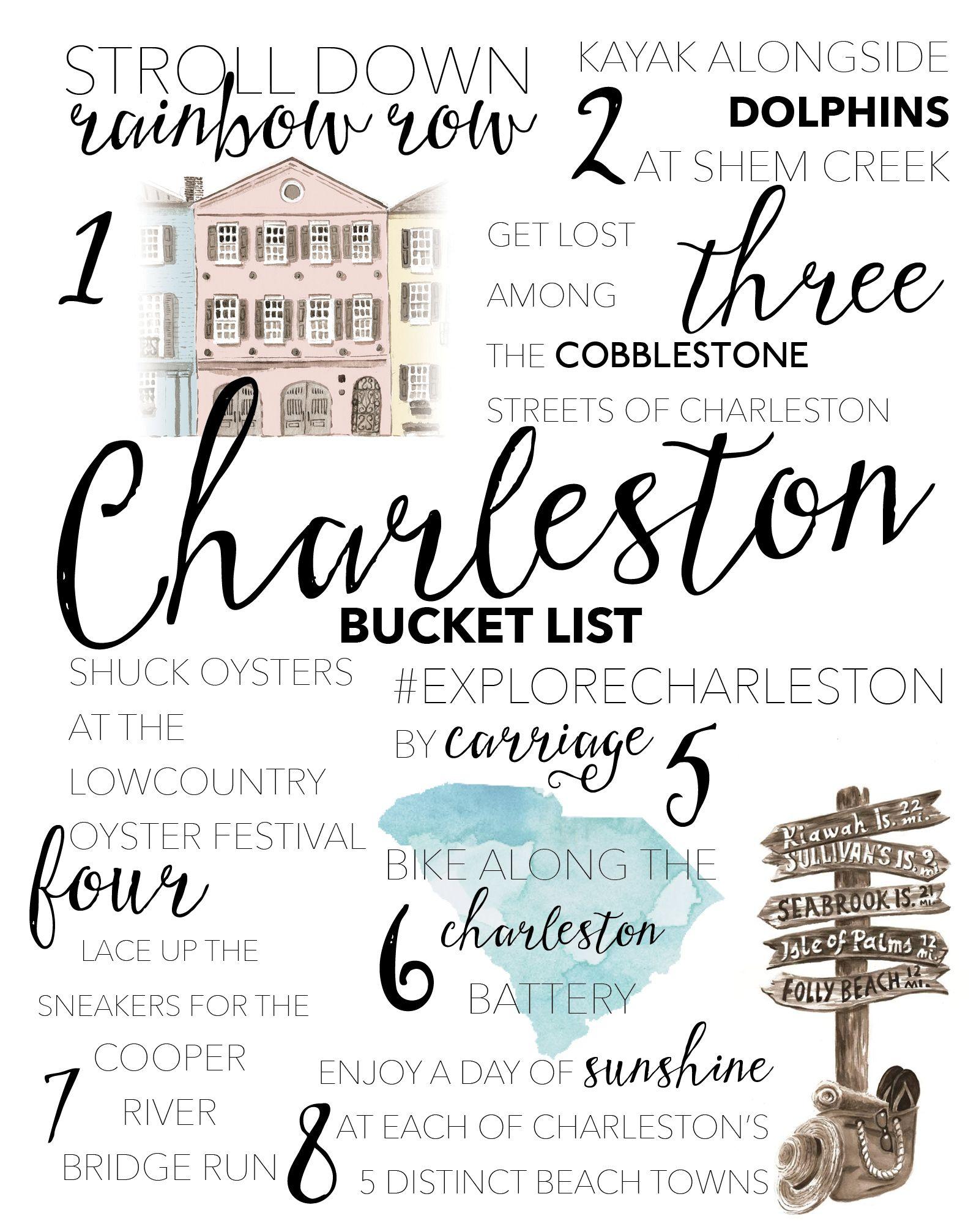 2018 Charleston Sc Bucket List Charleston Travel Charleston
