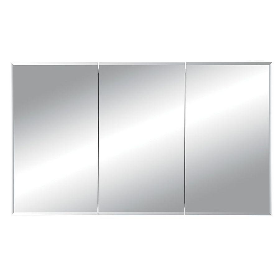 Jensen Horizon 48 In X 28 25 In Rectangle Recessed Mirrored Steel