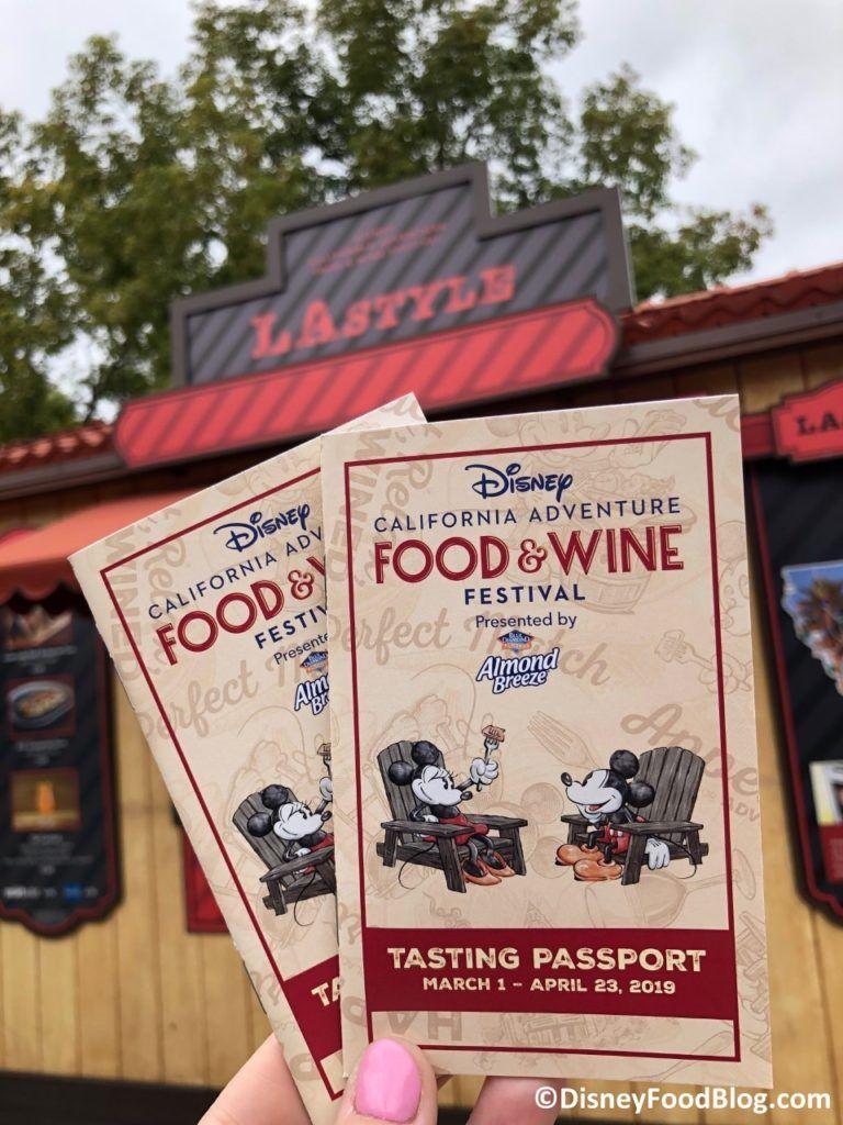 2019 Disney California Adventure Food And Wine Festival The Disney Food Blog Wine Festival Disney Food Blog Disney Food