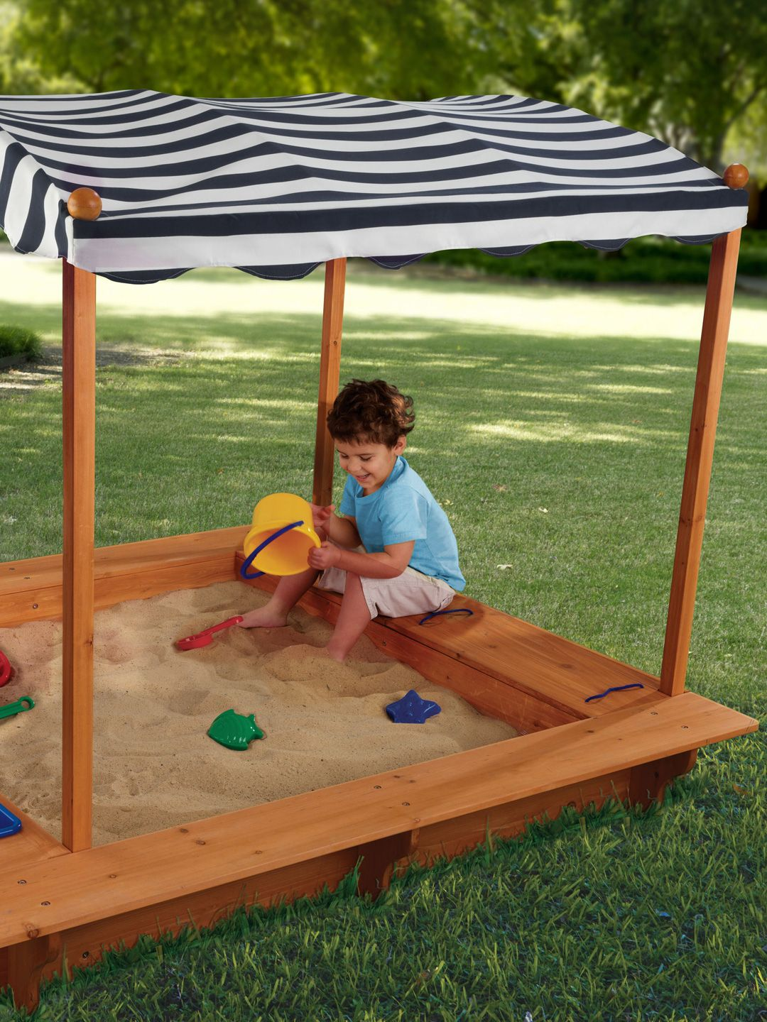 Outdoor Sandbox With Canopy by KidKraft at Gilt & Outdoor Sandbox With Canopy by KidKraft at Gilt | Kids Stuff ...