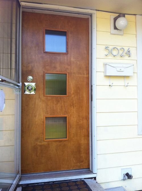 Make Your Own Affordable Door Lite Kit For The Front Entry Door Of Your Mid