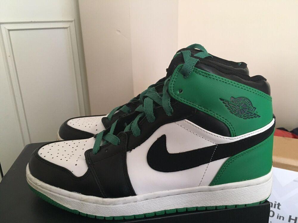 6aed441f6d1ca 2009 Nike Air Jordan 1 Retro DMP Boston Celtics Rare Size 8 High 332550 101