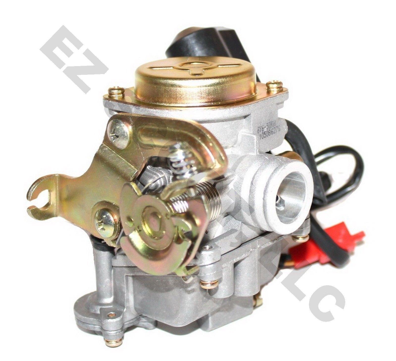 carburetor sport for 139 qmb 50 80cc 19mm gy6 chinese 4stroke scooter atv taotao ebay [ 1600 x 1458 Pixel ]