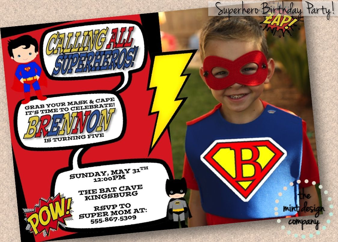 Calling all Superheros! Join us for a super birthday party! Get your ...