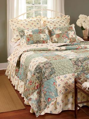 Rosalie Patchwork Quilt And Bedding Collection Country Curtains Bedroom Quilts Curtains Living Room Country Curtains