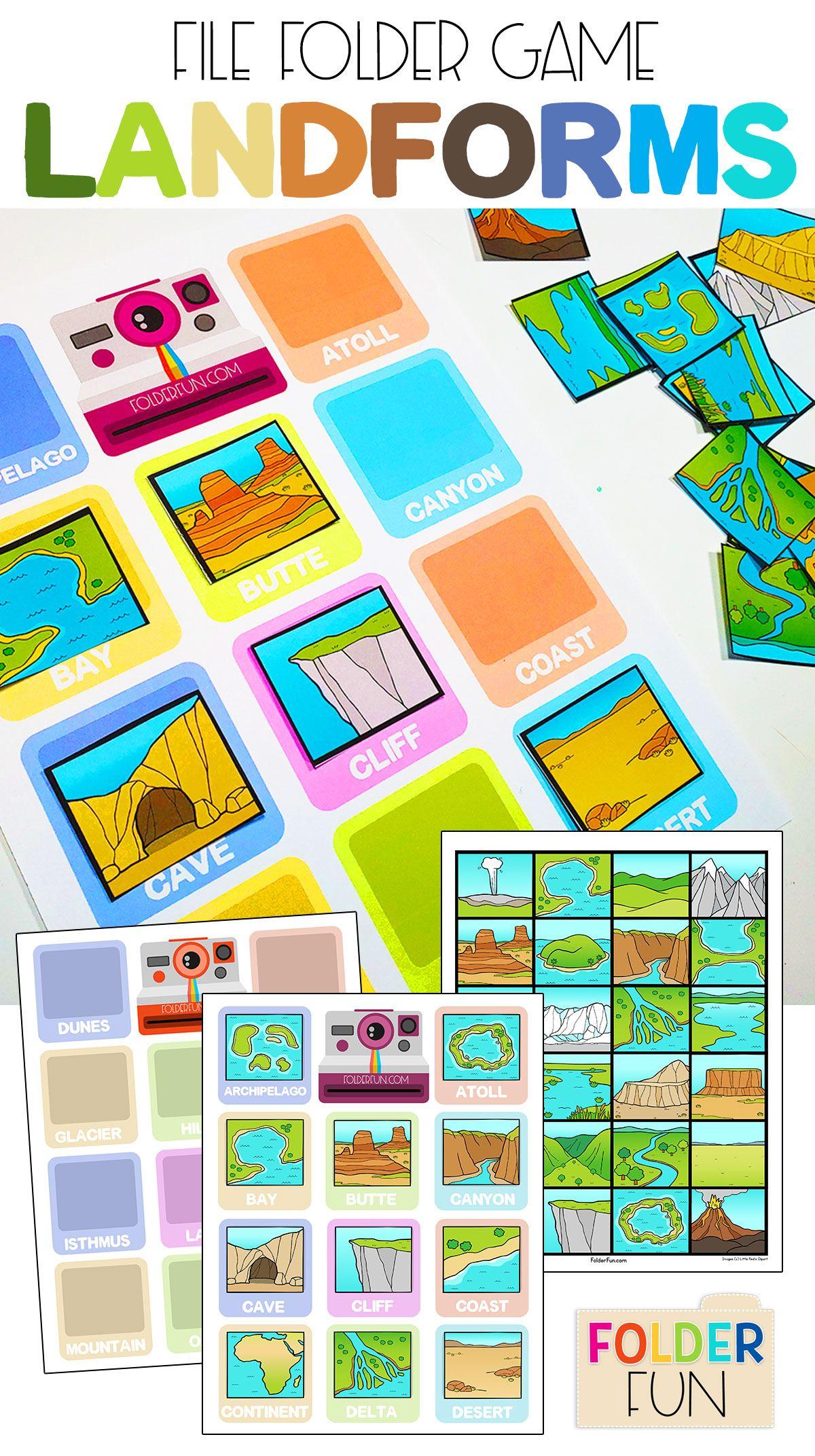 Landform Worksheets Printables Crafts Amp More Students