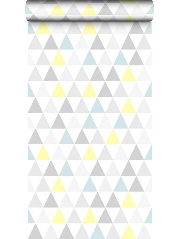Papier peint tarek bleu jaune scandinave graham brown for Deco chambre geometrique