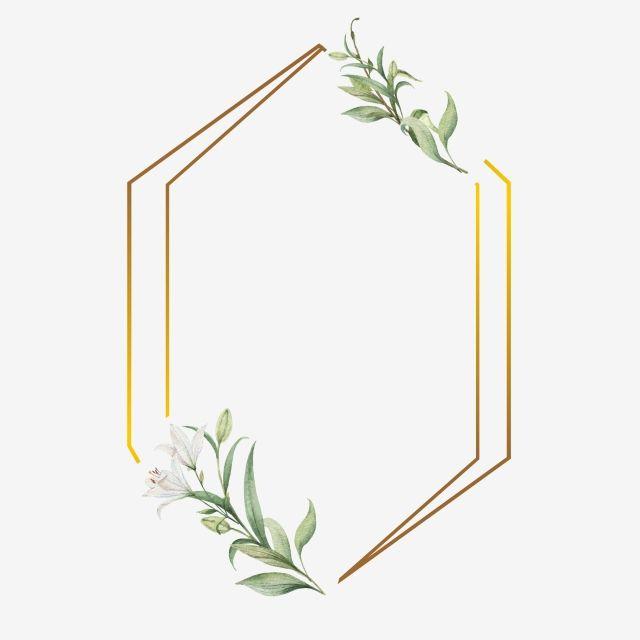Leaf And Frames With Golden S Frame Wedding Watercolor Png And Vector With Transparent Background For Free Download Flower Frame Wedding Frames Floral Border Design