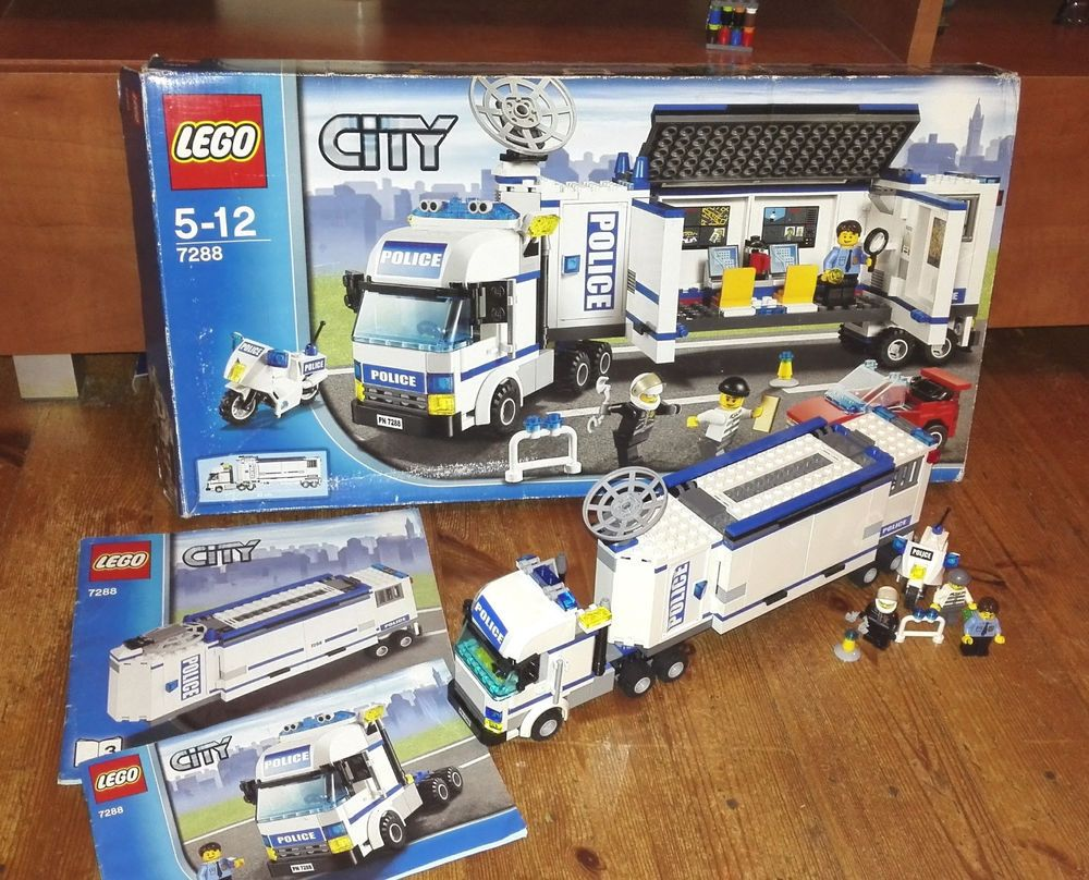 Lego City Mobile Police Unit 7288 With Instructions And Packing