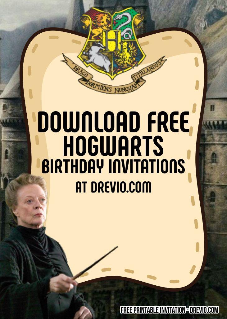 FREE Hogwarts Invitation Templates - Editable   Harry ...