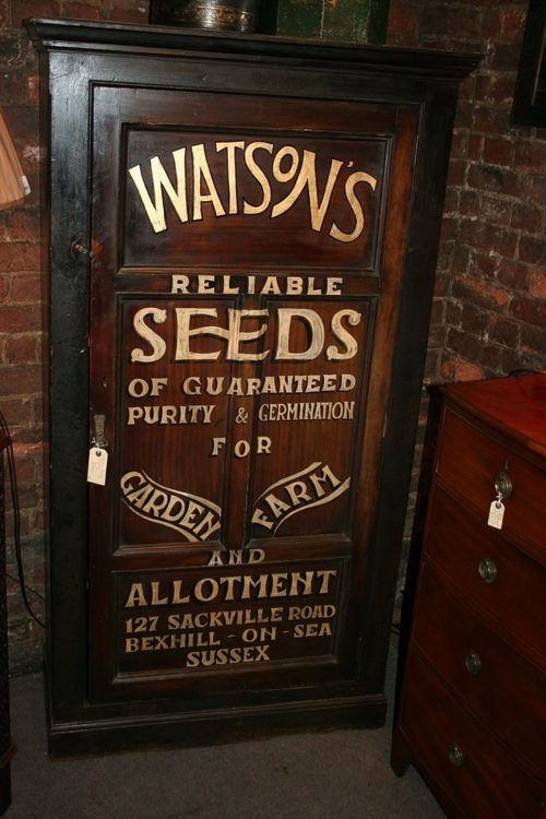 Victorian Sign Written Cupboard Sign Writing Hand