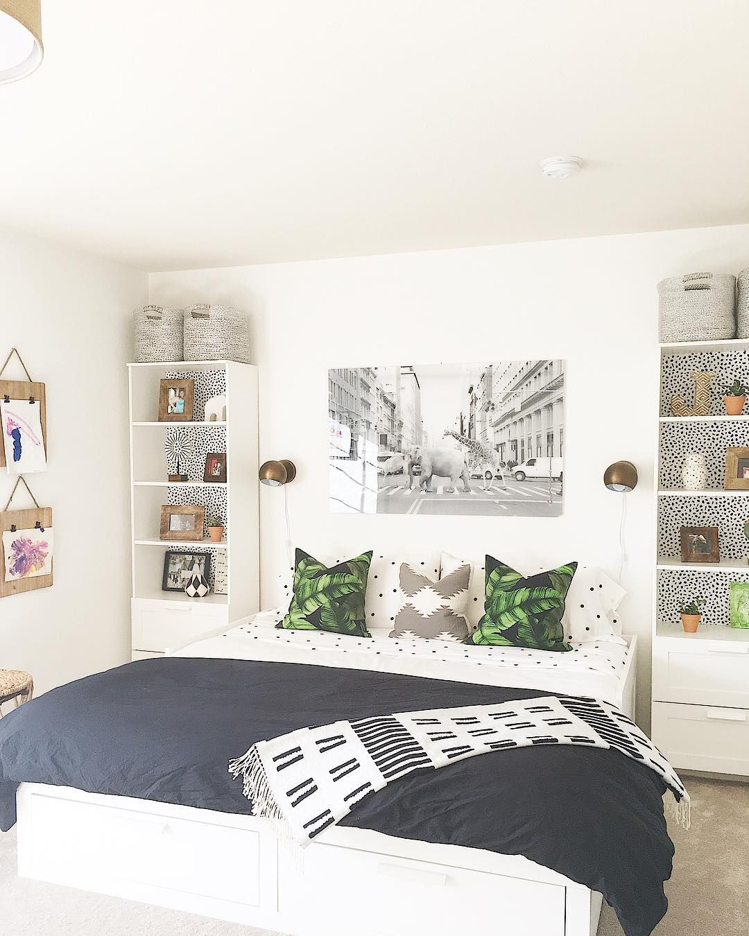 L S I N T E R I O R S Guestroom Playroom Ikea Brimnes Bed