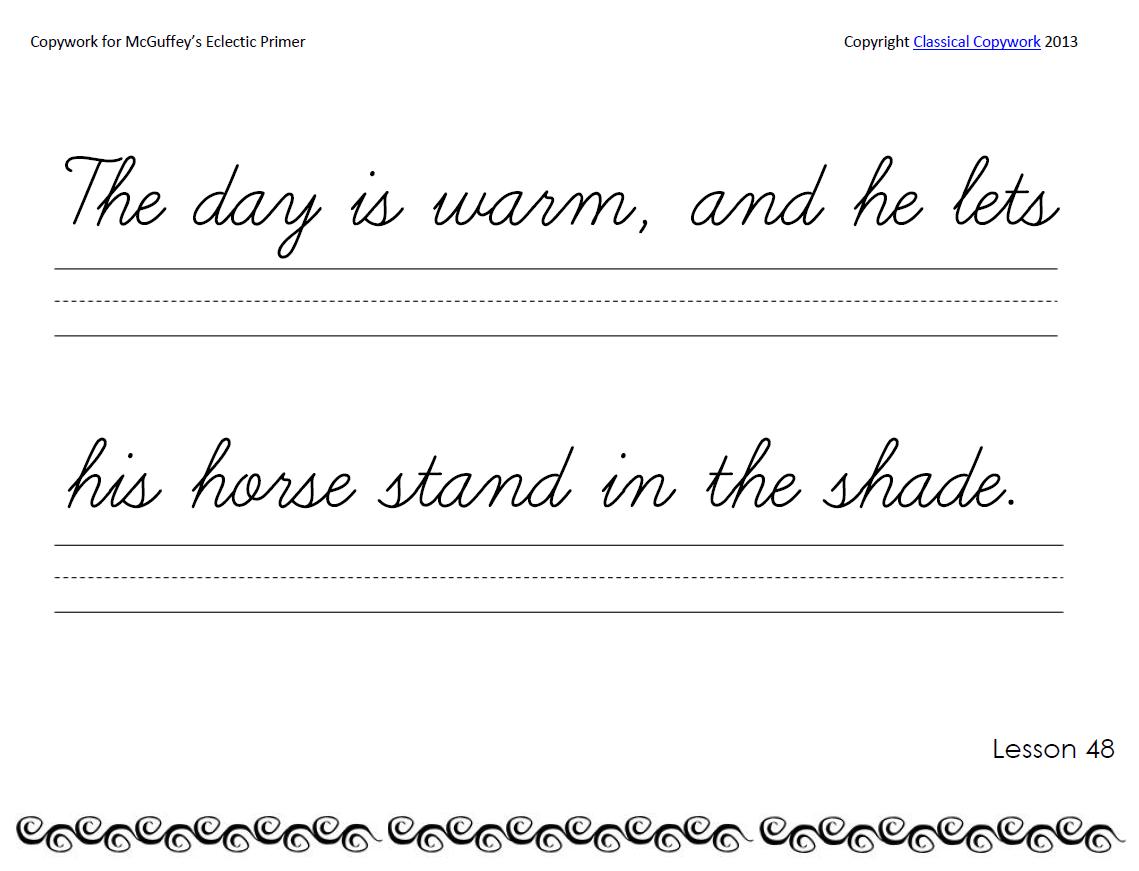Cursive Primer Writing School Copywork Writing Lessons [ 871 x 1139 Pixel ]