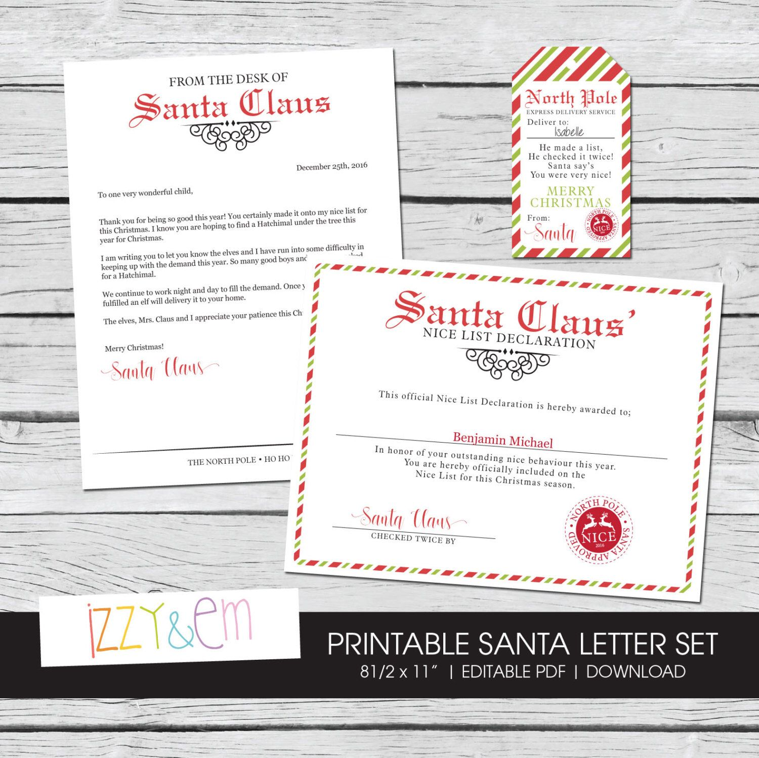 The perfect letter from santa christmas spirit kit this download the perfect letter from santa christmas spirit kit this download includes a nice certificate spiritdancerdesigns Images