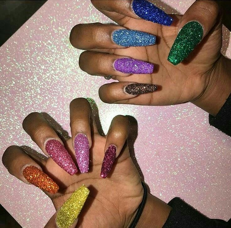 Pinterest:@yahhitniiya❣ | Nails&Tats | Pinterest | Nail nail, Long ...